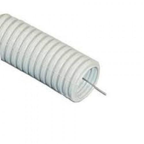Гофра 16 мм ПВХ с протяжкой серая (100м)